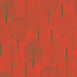 Nahtlose Bäume Hintergrund, Vektorillustration Lizenzfreies Stockbild