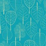 Nahtlose Bäume Hintergrund, Vektorillustration Stockfotografie