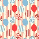 Nahtlose Ballone kopieren Hintergrund stock abbildung