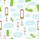 Nahtlose Batterien im Himmel Lizenzfreies Stockbild
