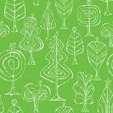 Nahtlose Baum-Muster Lizenzfreies Stockfoto