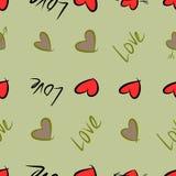 Nahtlose Begriffshintergrundliebe für Valentinstag, Feiern oder Jahrestag für Entwurfskatalog oder -beschaffenheit lizenzfreie abbildung