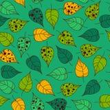 Nahtlose belaubte Tapetenfliese Stockfotografie
