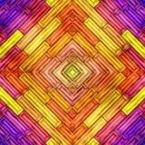 Nahtlose Beschaffenheit der abstrakten glänzenden bunten Illustration 3D Stockfotos