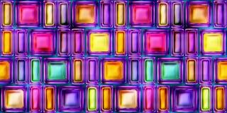 Nahtlose Beschaffenheit der abstrakten hellen glänzenden bunten Illustration 3D Lizenzfreies Stockfoto