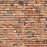 Nahtlose Beschaffenheit der alten Backsteinmauer Lizenzfreies Stockbild