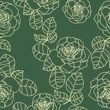 Nahtlose Beschaffenheit der Rosen lizenzfreie abbildung