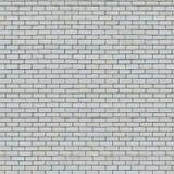 Nahtlose Beschaffenheit der weißen Backsteinmauer. stockfoto