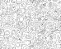 Nahtlose Beschaffenheit des abstrakten dekorativen Vektors mit dargestellten gewellten Linien Lizenzfreies Stockfoto