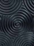 Nahtlose Beschaffenheit des dunklen Schwarzen Wellenförmiger Hintergrund Innenwanddekoration stockfoto