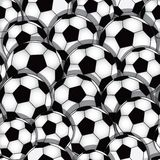 Nahtlose Beschaffenheit des Fußballs lizenzfreie abbildung