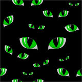 Nahtlose Beschaffenheit des grünen Auges der Katze vektor abbildung