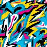 Nahtlose Beschaffenheit des Graffitihintergrundes Lizenzfreies Stockfoto