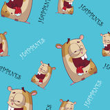 Nahtlose Beschaffenheit des Hamsters. Lizenzfreie Stockfotografie