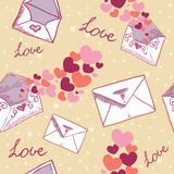 Nahtlose Beschaffenheit des Liebesbrief-Valentinsgrußes Lizenzfreies Stockfoto