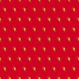 Nahtlose Beschaffenheit des Vektors Erdbeer Rotes Muster mit Beere und Samen stock abbildung