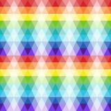 Nahtlose Beschaffenheit des Wiederholens des transparenten Dreiecks formt in helle Farben. Lizenzfreies Stockfoto