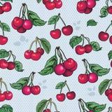 Nahtlose Beschaffenheit - heller Kirschfruchtvektor Stockbilder