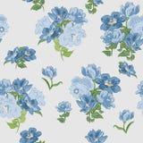 Nahtlose Beschaffenheit mit blauen Blumen Lizenzfreies Stockbild