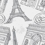 Nahtlose Beschaffenheit mit dem Eiffelturm, Lizenzfreies Stockbild