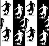 Nahtlose Beschaffenheit mit dem Spieler, der den Ball schlägt Vektor Lizenzfreie Stockfotografie