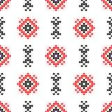 Nahtlose Beschaffenheit mit den roten und schwarzen abstrakten Mustern vektor abbildung