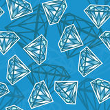 Nahtlose Beschaffenheit mit Diamanten Lizenzfreies Stockfoto