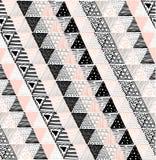 Nahtlose Beschaffenheit mit einem grafischen Muster von Dreiecken Lizenzfreie Stockbilder