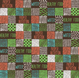 Nahtlose Beschaffenheit mit einem grafischen Muster von Quadraten Stockbild