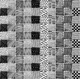 Nahtlose Beschaffenheit mit einem grafischen Muster von Quadraten Stockbilder