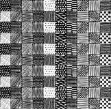 Nahtlose Beschaffenheit mit einem grafischen Muster von Quadraten Stockfotografie