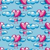 Nahtlose Beschaffenheit mit Luftballonen Stockbilder