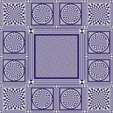 Nahtlose Beschaffenheit oder Hintergrund mit geometrischem Blau der Muster 10 Lizenzfreie Stockbilder