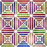 Nahtlose Beschaffenheit von abstrakten hellen glänzenden bunten geometrischen Formen Stockfoto