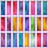 Nahtlose Beschaffenheit von abstrakten hellen glänzenden geometrischen Formen Stockbilder