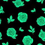 Nahtlose Beschaffenheit von grünen Rosen Lizenzfreie Stockbilder