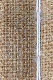 Nahtlose Beschaffenheit von Leinwand mit weißem Thread Stockfoto