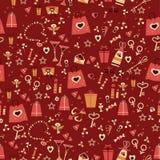 Nahtlose Beschaffenheit zum Tag des Valentinsgrußes Lizenzfreie Stockbilder