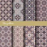 Nahtlose Beschaffenheitssammlung des Vektors Satz schöne farbige Muster für Design und Mode mit dekorativen Elementen Stockbilder