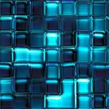 Nahtlose Beschaffenheitszusammenfassung quadriert Blau Lizenzfreies Stockbild