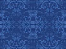 Nahtlose blaue Blumentapete Lizenzfreie Stockfotos