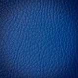 Nahtlose blaue lederne Beschaffenheit Lizenzfreie Stockfotos