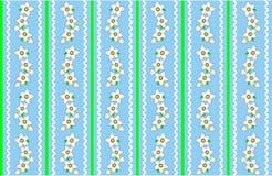 Nahtlose blaue Tapeten-Auslegung des VektorEps10 mit W Lizenzfreies Stockbild