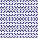 Nahtlose Blume des Indigos des Lebenmusters - heiliger Geometriehintergrund - das meiste magische Muster auf der Welt Lizenzfreies Stockfoto