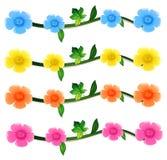 Nahtlose Blumen in vier Farben Stockfotografie