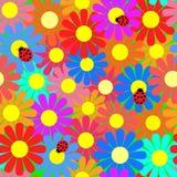 Nahtlose Blumenbeschaffenheit. Stockfoto