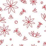 Nahtlose Blumenbeschaffenheit Lizenzfreies Stockfoto