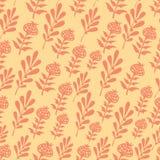 Nahtlose Blumenblätter des Vektors Stockbild