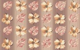 Nahtlose Blumenblume verlässt Muster lizenzfreie abbildung