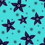 Nahtlose Blumentapete Lizenzfreies Stockfoto